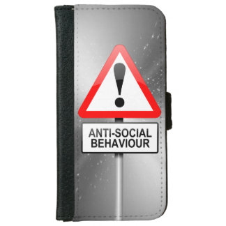 Anti-social warning. iPhone 6 wallet case