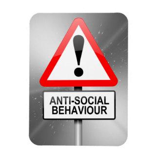 Anti-social warning. magnet