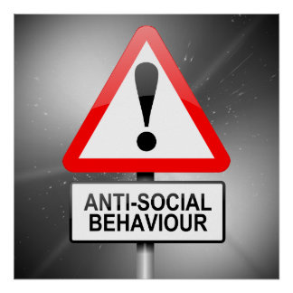 Anti-social warning. poster