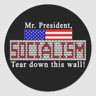 Anti-Socialism stickers