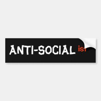 ANTI-SOCIALIST BUMPER STICKER