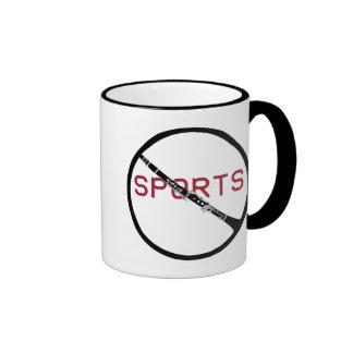 Anti-Sports Clarinet Mug