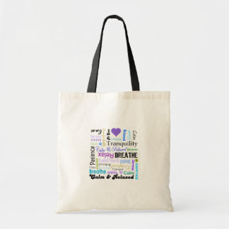 Anti-stress Relax & Breathe Typography tote bag
