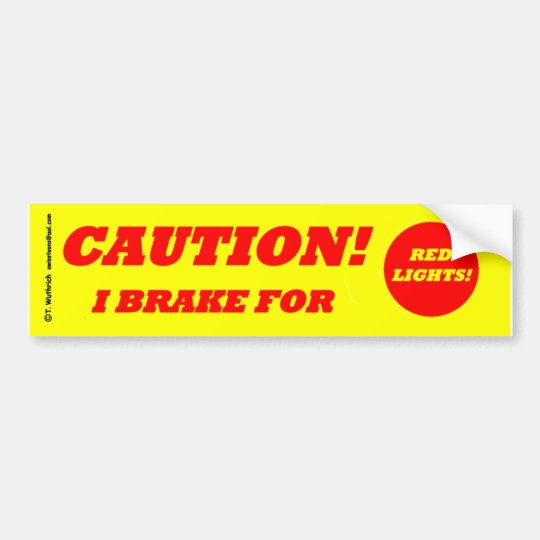 Anti-Tailgating Defensive Safe Driving CAUTION Bumper Sticker