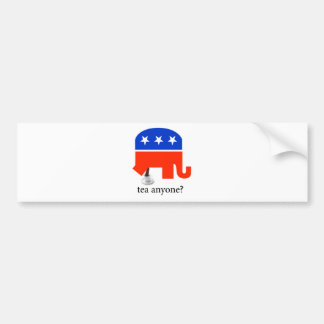 Anti Tea-Party Elephant Poop in Tea Cup Bumper Sticker
