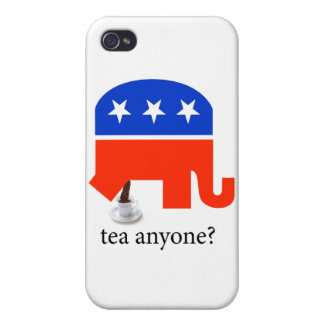 Anti Tea-Party Elephant Poop in Tea Cup iPhone 4/4S Covers