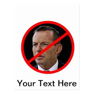Anti Tony Abbott Postcard