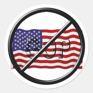 Anti Trump, Anti GOP American Fascist Flag Classic Round Sticker