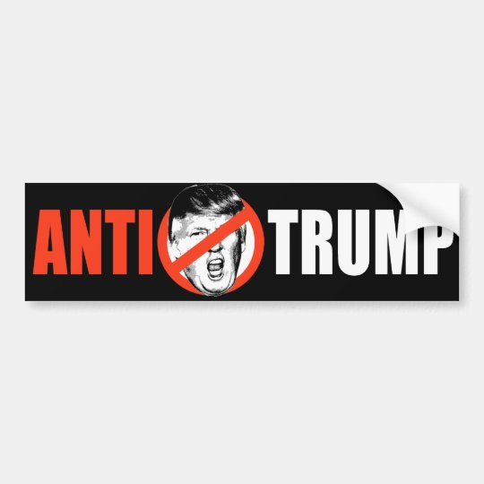 ANTI-TRUMP BANNER - white - Bumper Sticker