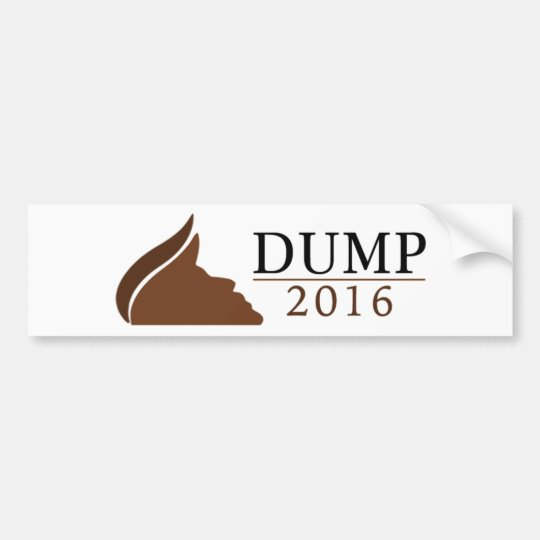 Anti-Trump Bumper Sticker (Dump | 2016)