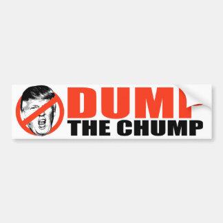 Anti-Trump - Dump the Chump - Bumper Sticker
