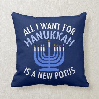Anti Trump Hanukkah Cushion