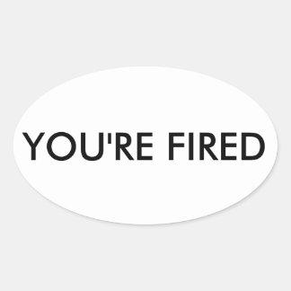 Anti Trump Oval Sticker