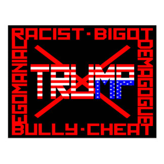Anti Trump Postcard