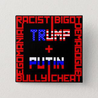 Anti Trump+Putin 15 Cm Square Badge