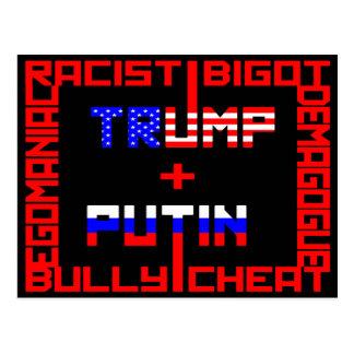 Anti Trump+Putin Postcard