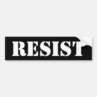 anti trump resist women march STICKER black white Bumper Sticker