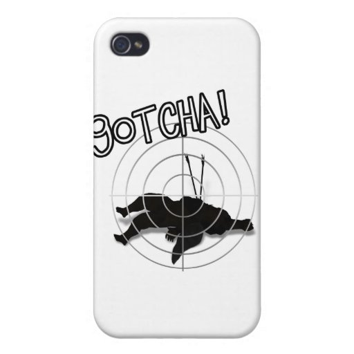 Anti-Valentine - Direct Hit on Cupid iPhone 4/4S Cover