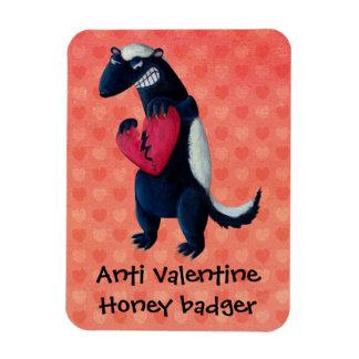 Anti Valentine Honey Badger Flexible Magnets