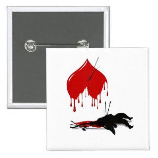 Anti-Valentine No more Cupid 15 Cm Square Badge