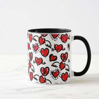 Anti-Valentine Sketch Pattern
