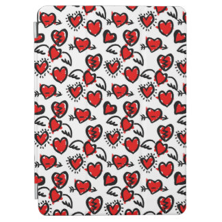 Anti-Valentine Sketch Pattern iPad Air Cover