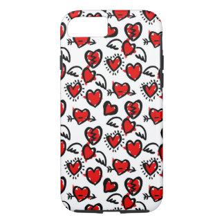 Anti-Valentine Sketch Pattern iPhone 7 Case