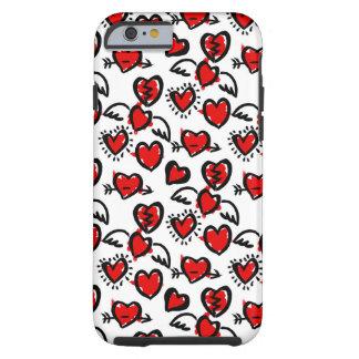 Anti-Valentine Sketch Pattern Tough iPhone 6 Case