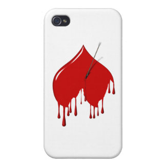 Anti-Valentine - Upside Down Heart Add Text iPhone 4/4S Cases