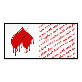 Anti-Valentine - Upside Down Heart Add Text Custom Photo Card