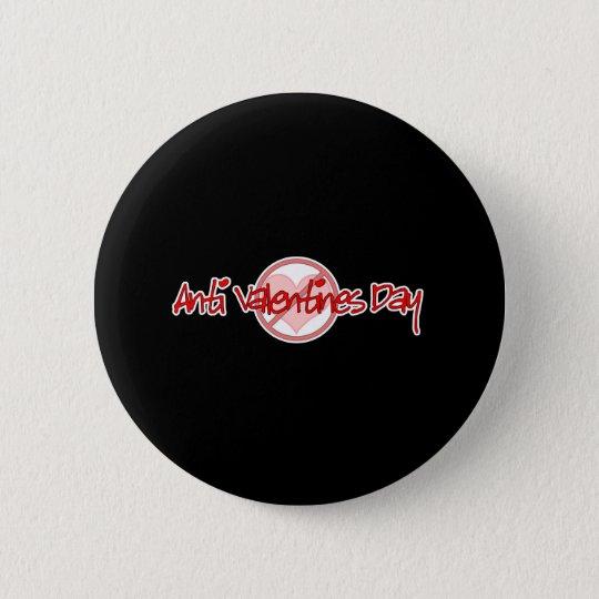 Anti Valentine's Day Black 6 Cm Round Badge