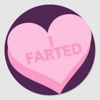 Anti-Valentine's Day Classic Round Sticker
