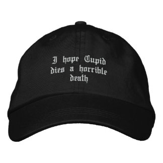 Anti Valentine's Day Embroidered Hats