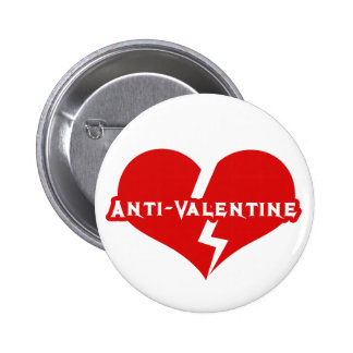 Anti-Valentines Day Heartbreaker Pinback Buttons