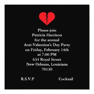 Anti Valentines Day Party 13 Cm X 13 Cm Square Invitation Card