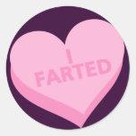 Anti-Valentine's Day Round Sticker