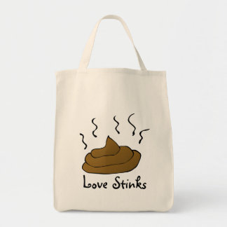 Anti-Valentines: Love is just a bunch of crap Grocery Tote Bag