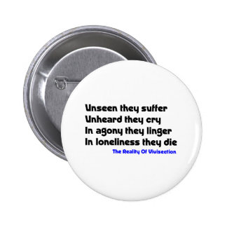Anti Vivisection 6 Cm Round Badge