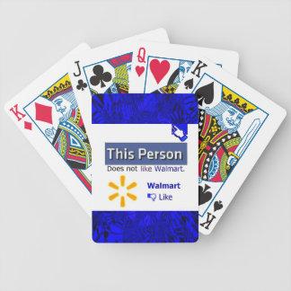 Anti Walmart Address Bicycle Playing Cards
