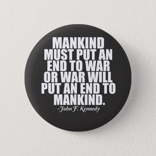 Anti War 6 Cm Round Badge