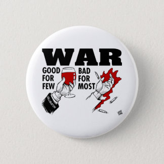 anti war 6 cm round badge
