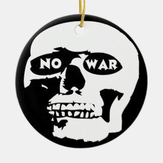 Anti-War Skull Round Ceramic Decoration