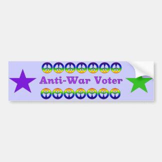 Anti-War Voter Car Bumper Sticker