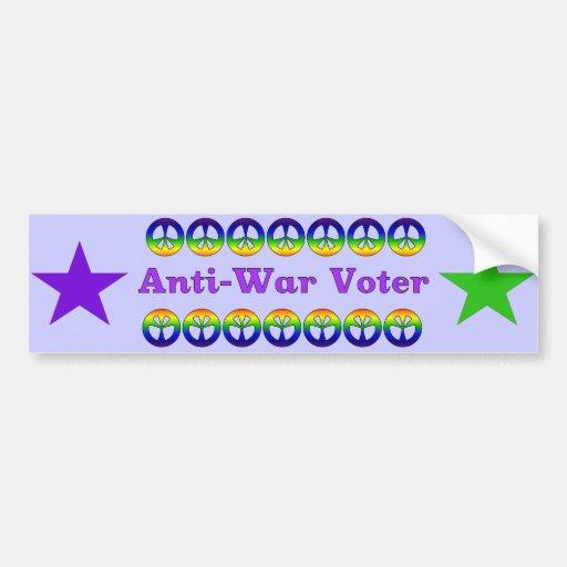 Anti-War Voter Bumper Sticker