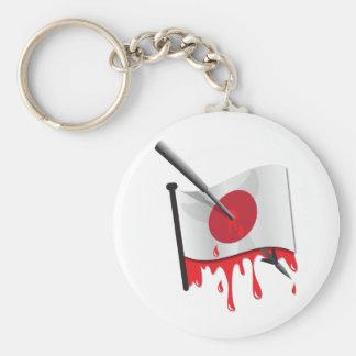 anti-whaling statement harpoon flag basic round button key ring