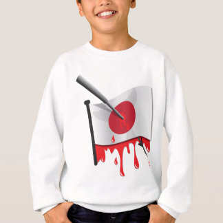 anti-whaling statement harpoon flag sweatshirt