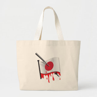 anti-whaling statement harpoon flag canvas bag