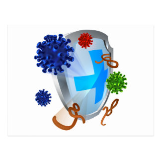 Antibacterial or Anti Virus Shield Postcard