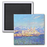 Antibes, Afternoon Effect, 1888 Claude Monet cool, Square Magnet