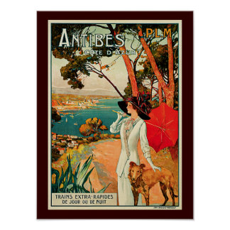 Antibes Cote D'Azur Poster
